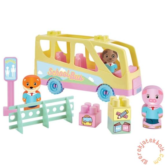 Écoiffier Abrick Twee Pop iskolabusz játékszett figurákkal (3017)