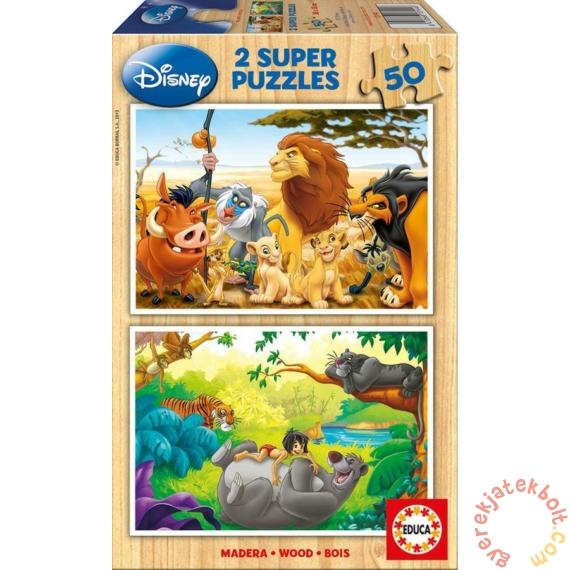 Educa 2 x 50 db-os fa puzzle - Disney állatok (13144)
