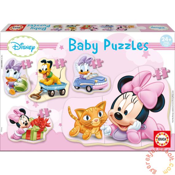 Educa 5 az 1-ben Baby sziluett puzzle (3,4,5 db-os) - Disney - Minnie (15612)