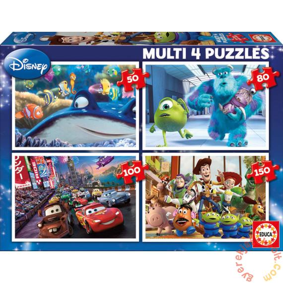 Educa 4 az 1-ben puzzle (50,80,100,150) - Disney Pixar mesehősök (15615)
