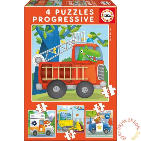 Educa 4 az 1-ben puzzle (6,9,12,16) - Hős állatok (17144)