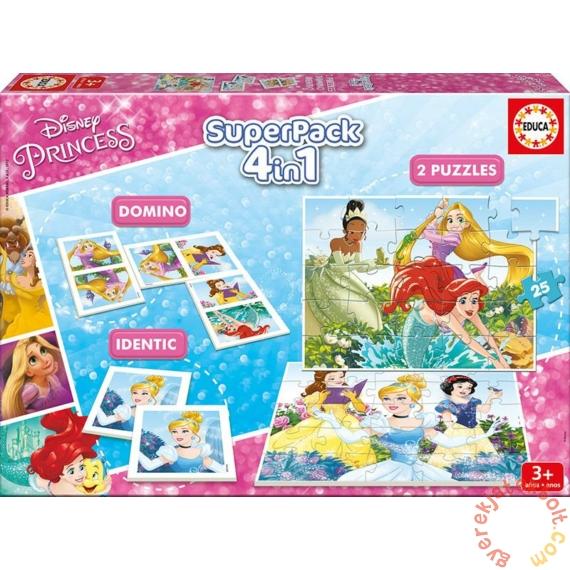 Educa 4 az 1-ben játékgyűjtemény - Disney Princess (17198)