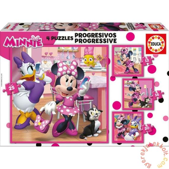 Educa 4 az 1-ben puzzle (12,16,20,25) - Minnie Mouse és Daisy (17630)