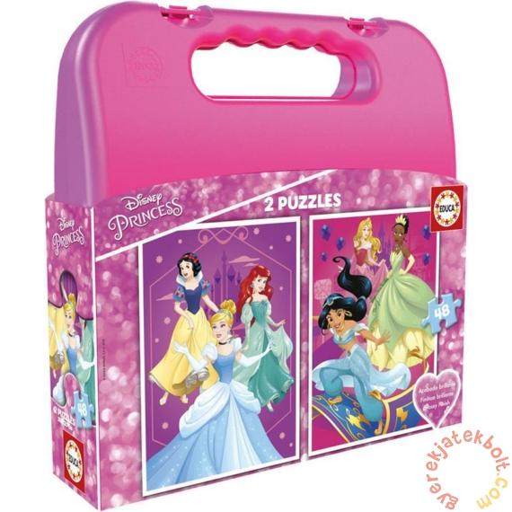 Educa 2 az 1-ben puzzle táskában (2 x 48 db) - Disney Princess (17640)