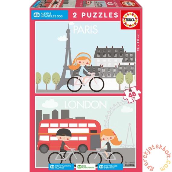 Educa 2 x 48 db-os puzzle - Párizs-London (17726)