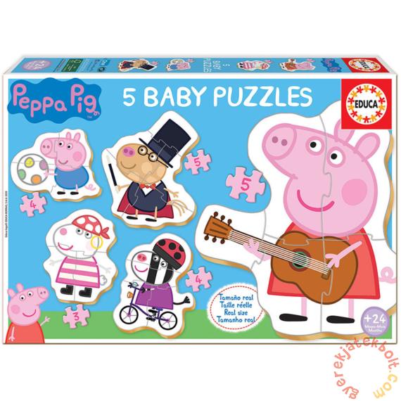 Educa 5 az 1-ben Baby sziluett puzzle (3,4,5 db-os) - Peppa malac (18589)