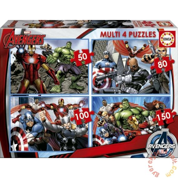 Educa 4 az 1-ben puzzle (50,80,100,150) - Avengers - Bosszúállók (16331)