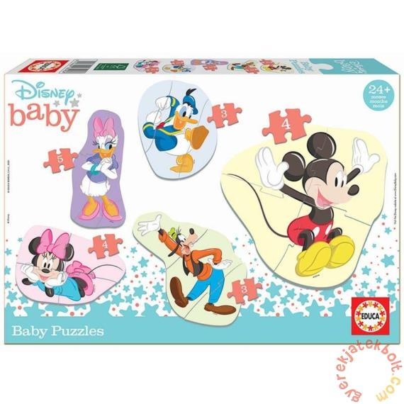 Educa 5 az 1-ben Baby sziluett puzzle (3,4,5 db-os) - Disney - Mickey és barátai (18590)