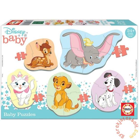Educa 5 az 1-ben Baby sziluett puzzle (3,4,5 db-os) - Disney - Állatok 2 (18591)
