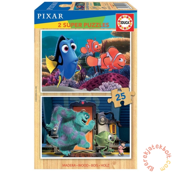 Educa 2 x 25 db-os fa puzzle - Disney Pixar mesék (18597)