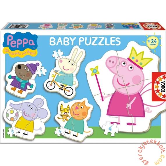 Educa 5 az 1-ben Baby sziluett puzzle (3,4,5 db-os) - Peppa malac (15622)