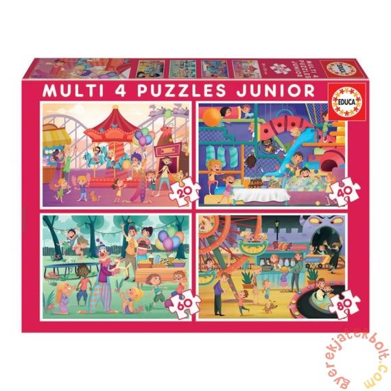Educa 4 az 1-ben puzzle (20,40,60,80) - Gyereknapi mulatságok (18601)
