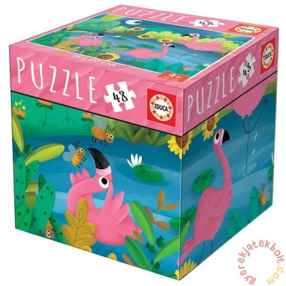 Educa 48 db-os puzzle - Mini box - Flamingók (18073)