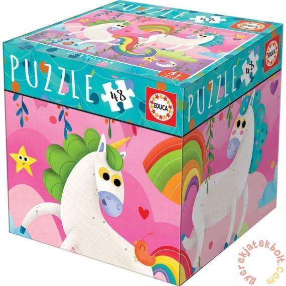 Educa 48 db-os puzzle - Mini box - Unikornisok (18074)