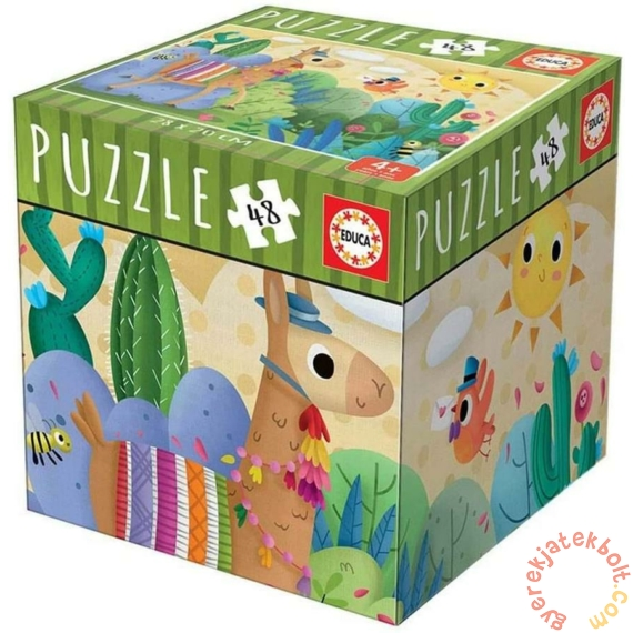 Educa 48 db-os puzzle - Mini box - Láma (18075)