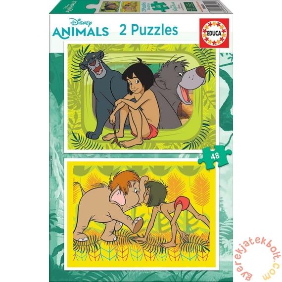 Educa 2 x 48 db-os puzzle - A dzsungek könyve (18641)