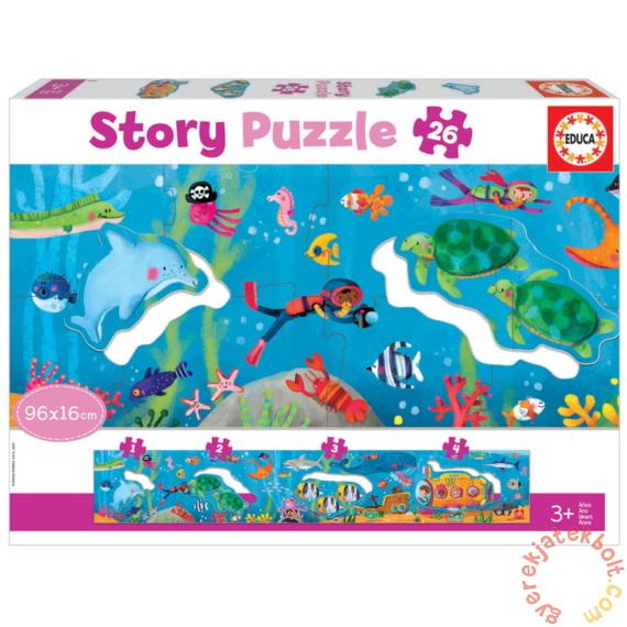 Educa 26 db-os Story puzzle - Víz alatti világ (18902)