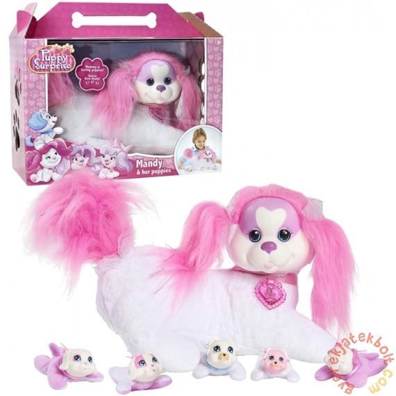 Puppy Surprise - Mandy plüss mamakutya kölykökkel