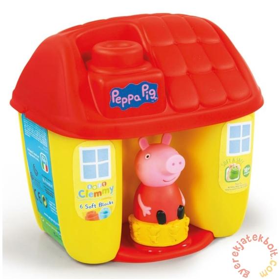 Clementoni - Clemmy Peppa malac házikó tároló puha építőkockákkal