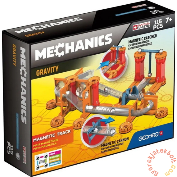Geomag Mechanics Gravity - Gravitációs versenypálya 115 db-os mágneses építőjáték készlet