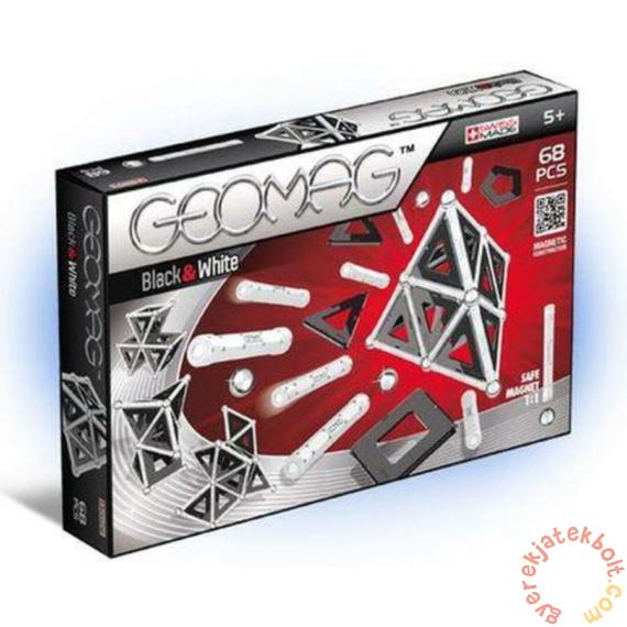Geomag Black & White - Fekete-fehér 68 db-os mágneses építőjáték készlet
