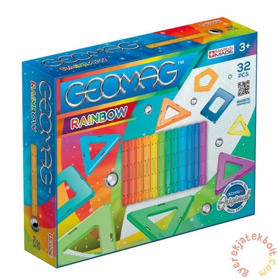 Geomag Rainbow 32 db-os mágneses építőjáték készlet