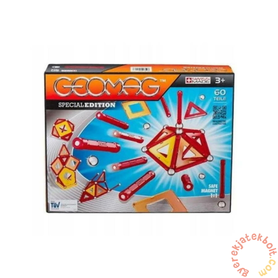 Geomag Panels Special Edition - Piros 60 db-os mágneses építőjáték készlet