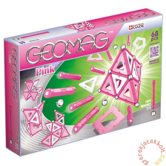 Geomag Pink Panels 68 db-os mágneses építőjáték készlet (GMG00342)