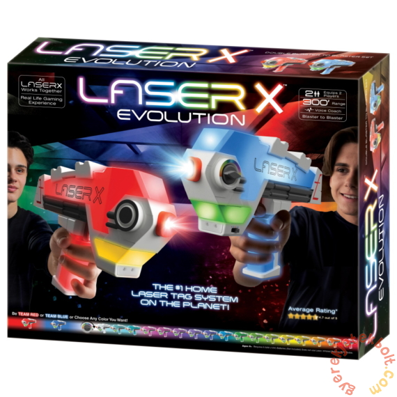 Laser-X Evolution lézerfegyver Dupla szett (LAS88908)