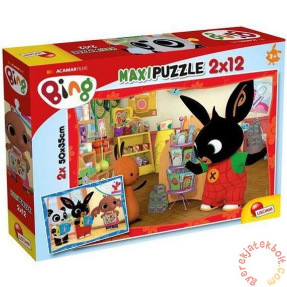 Lisciani 2 x 12 db-os maxi puzzle - Bing az iskolában (81233)