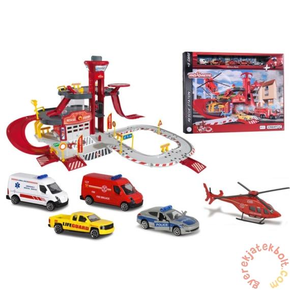Majorette Creatix Tűzoltóállomás 5 járművel (2050019)
