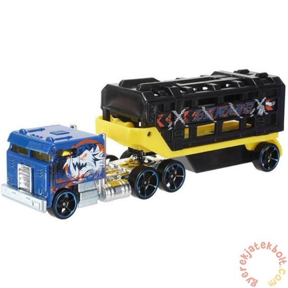 Hot Wheels Track Stars szállítóautó - Caged Cargo (BFM60-BFM61)
