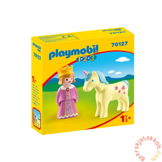 Playmobil 1.2.3 - Hercegnő egyszarvúval játékszett
