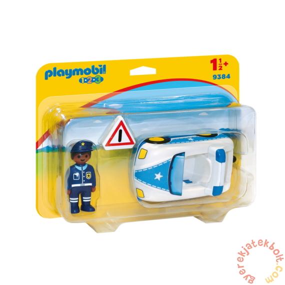 Playmobil 1.2.3 - Rendőrségi kisautó játékszett