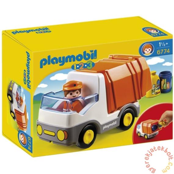 Playmobil 1.2.3 - Az első szemetesautóm játékszett