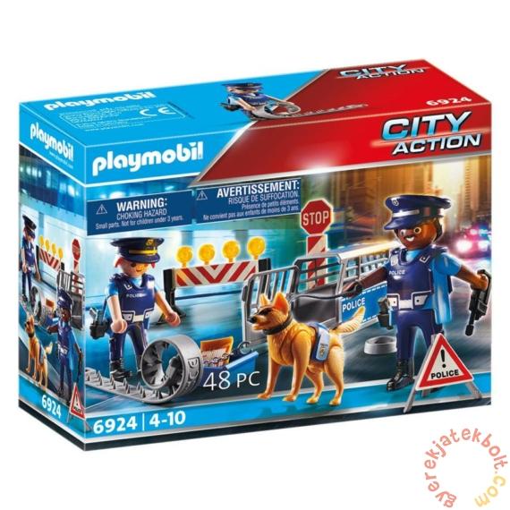 Playmobil City Action - Rendőrségi útlezárás játékszett