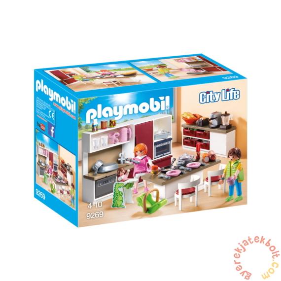 Playmobil - City Life - Nagy családi konyha játékszett