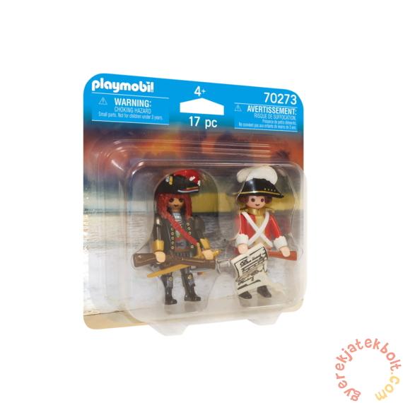 Playmobil - Duo Pack - Kalózkapitány és brit katona játékszett