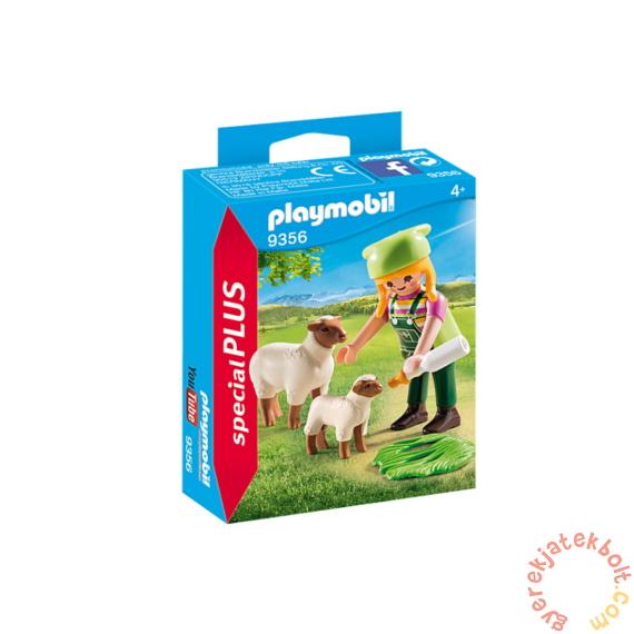 Playmobil - Special Plus - Farmerlány báránykákkal játékszett