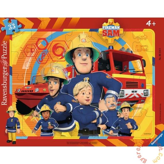 Ravensburger 33 db-os keretes puzzle - Sam, a tűzoltó - Sam és csapata (06114)