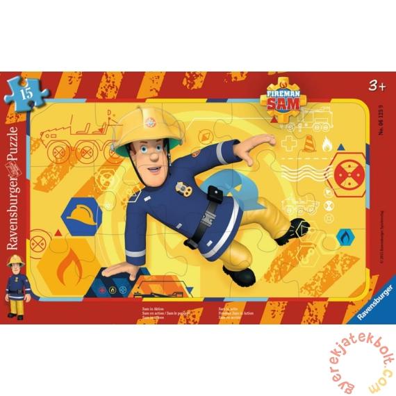 Ravensburger 15 db-os keretes puzzle - Sam, a tűzoltó - Sam akcióban (06125)