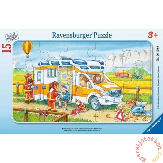 Ravensburger 15 db-os keretes puzzle - Mentők munkában (06170)