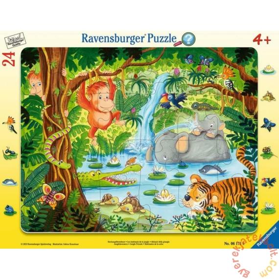 Ravensburger 24 db-os keretes puzzle - A dzsungel állatai (06171)