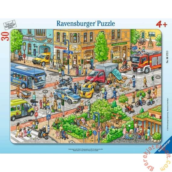 Ravensburger 30 db-os keretes puzzle - Városi közlekedés (06172)