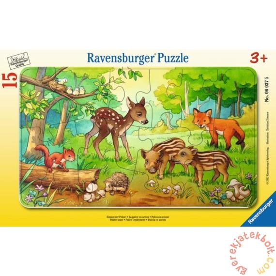 Ravensburger 15 db-os keretes puzzle - Erdei állatok (06376)