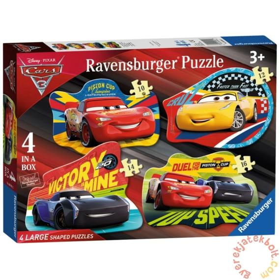 Ravensburger 4 az 1-ben sziluett puzzle (10,12,14,16 db-os) - Verdák 3 (06891)