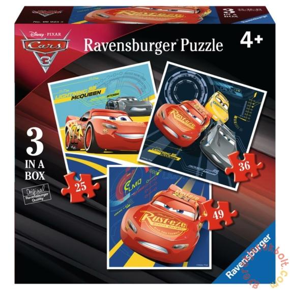 Ravensburger 3 az 1-ben puzzle (25, 36, 49 db-os) - Verdák 3 (06925)