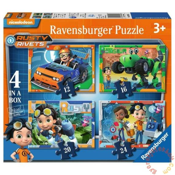 Ravensburger 4 az 1-ben puzzle (12, 16, 20, 24 db-os) - Rusty Rivets (06983)