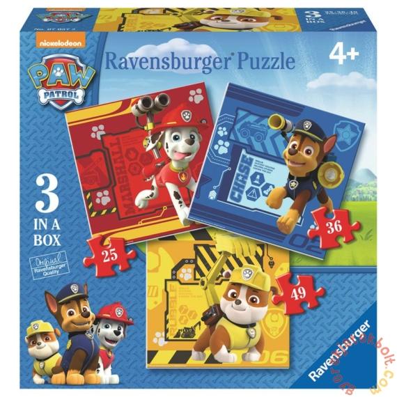 Ravensburger 3 az 1-ben puzzle (25, 36, 49 db-os) - Mancs őrjárat (07057)