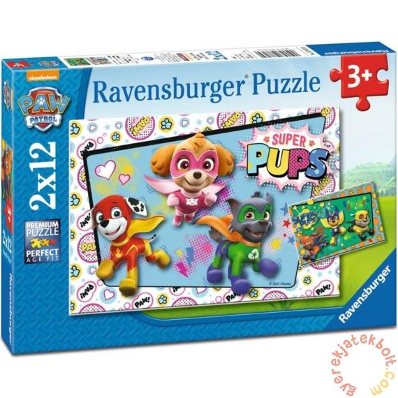 Ravensburger 2 x 12 db-os puzzle - Mancs őrjárat - Szuper Mancsok (07613)